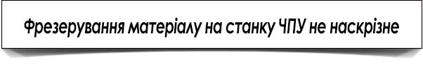 Фрезеровка материала на станке с ЧПУ