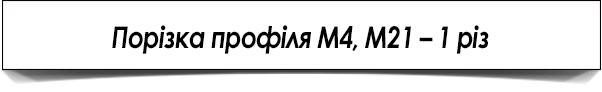 Порезка профиля М4, М21